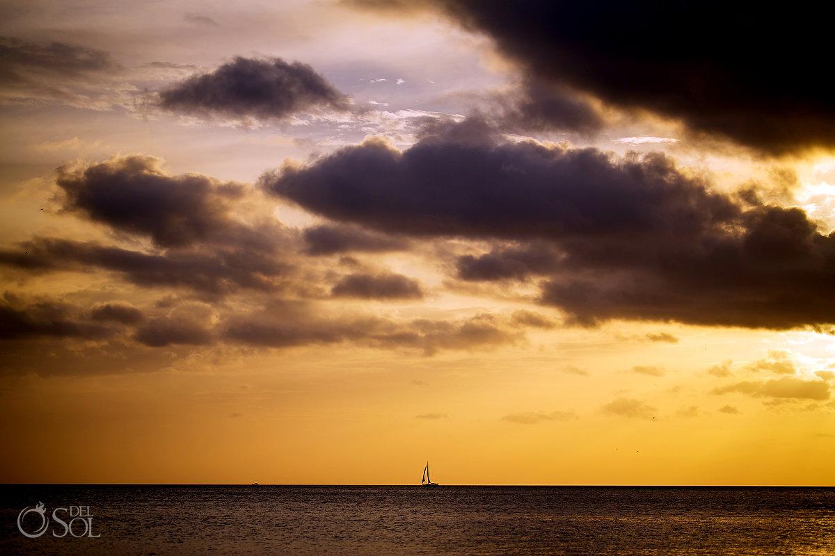 Dreams Las Mareas beach sunset destination wedding