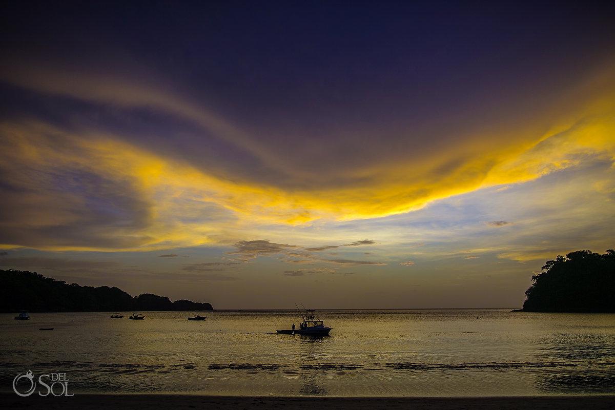 Dreams Las Mareas beach sunset