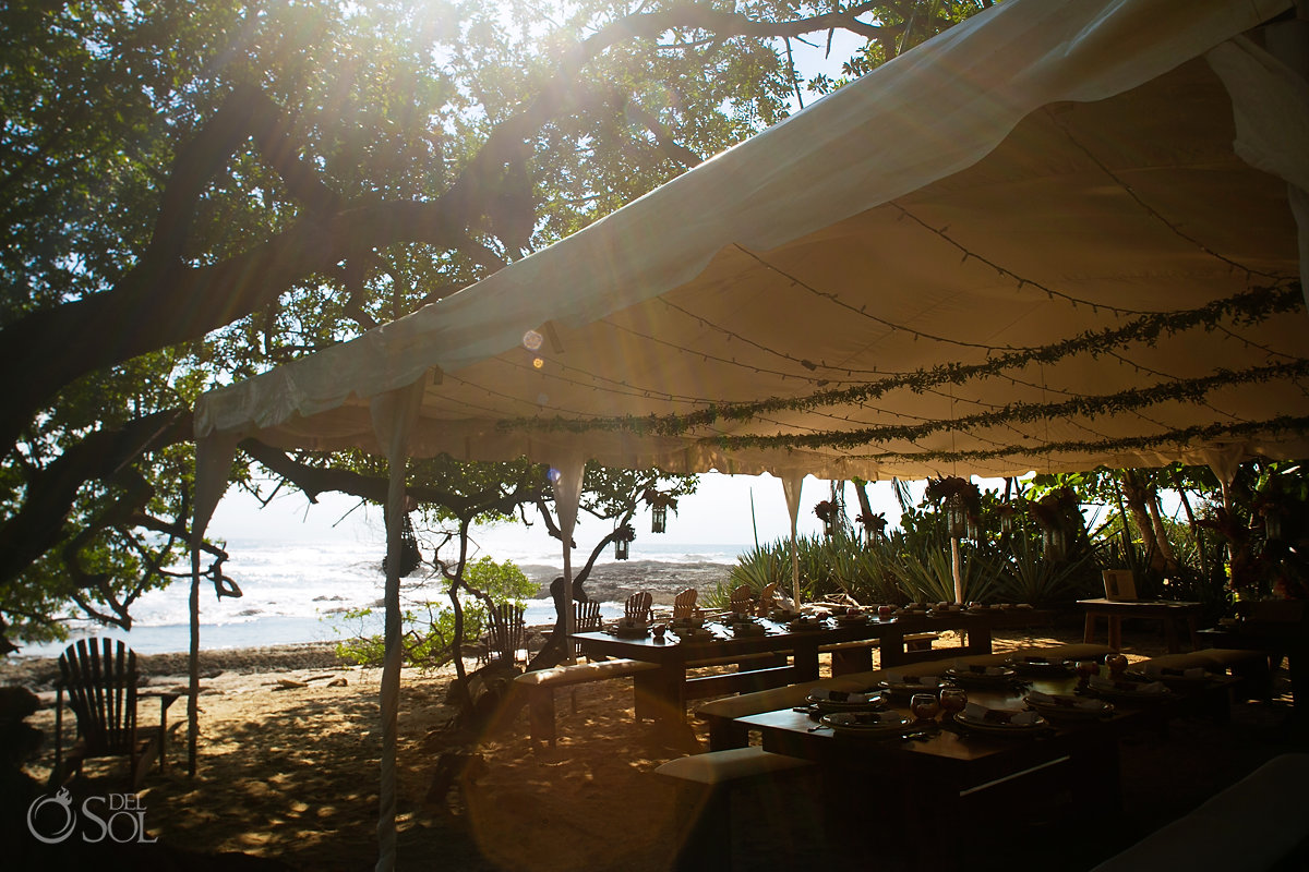 Playa Langosta Beach Front Wedding Reception decoration Guanacaste Costa Rica