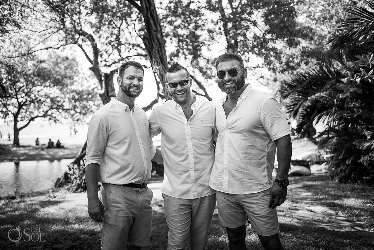 Grooms Wedding Party Portrait Tamarindo Guanacaste Costa Rica