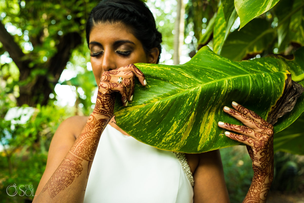 Mandy Mahil, bridal henna mehndi tropical photoshoot