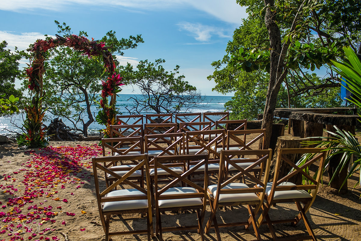 Tropical Heliconia Wedding decoration Guanacaste Costa Rica