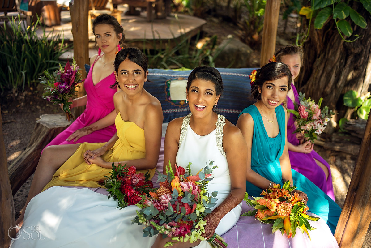 Multicolor bridesmaid dresses Tropical Style Guanacaste Costarica