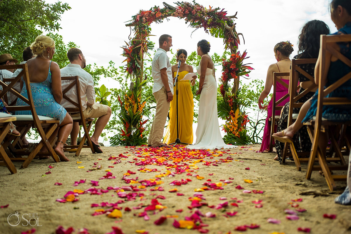 Tropical setup Guanacaste Costa Rica Wedding