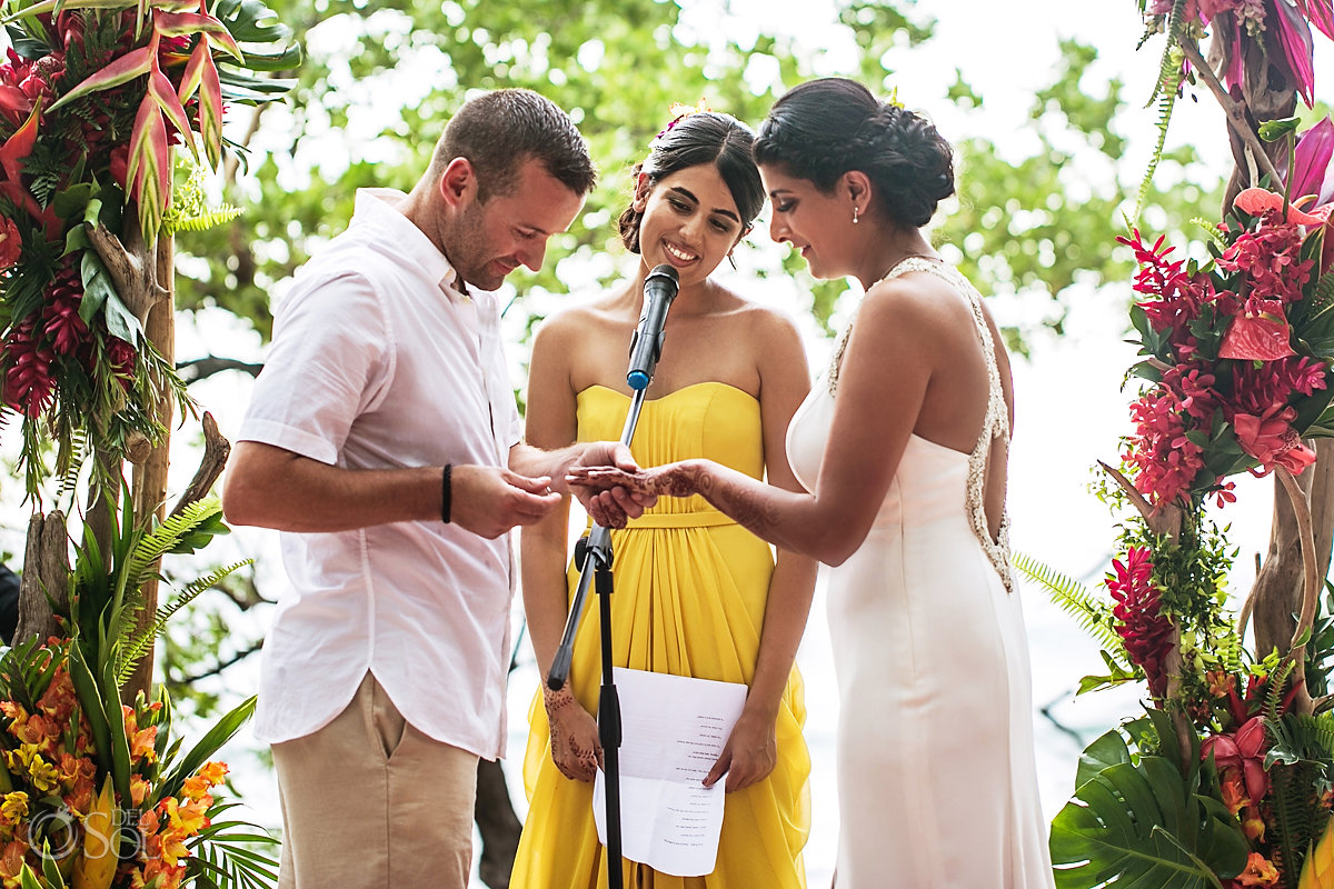 exchange of rings guanacaste costa rica wedding
