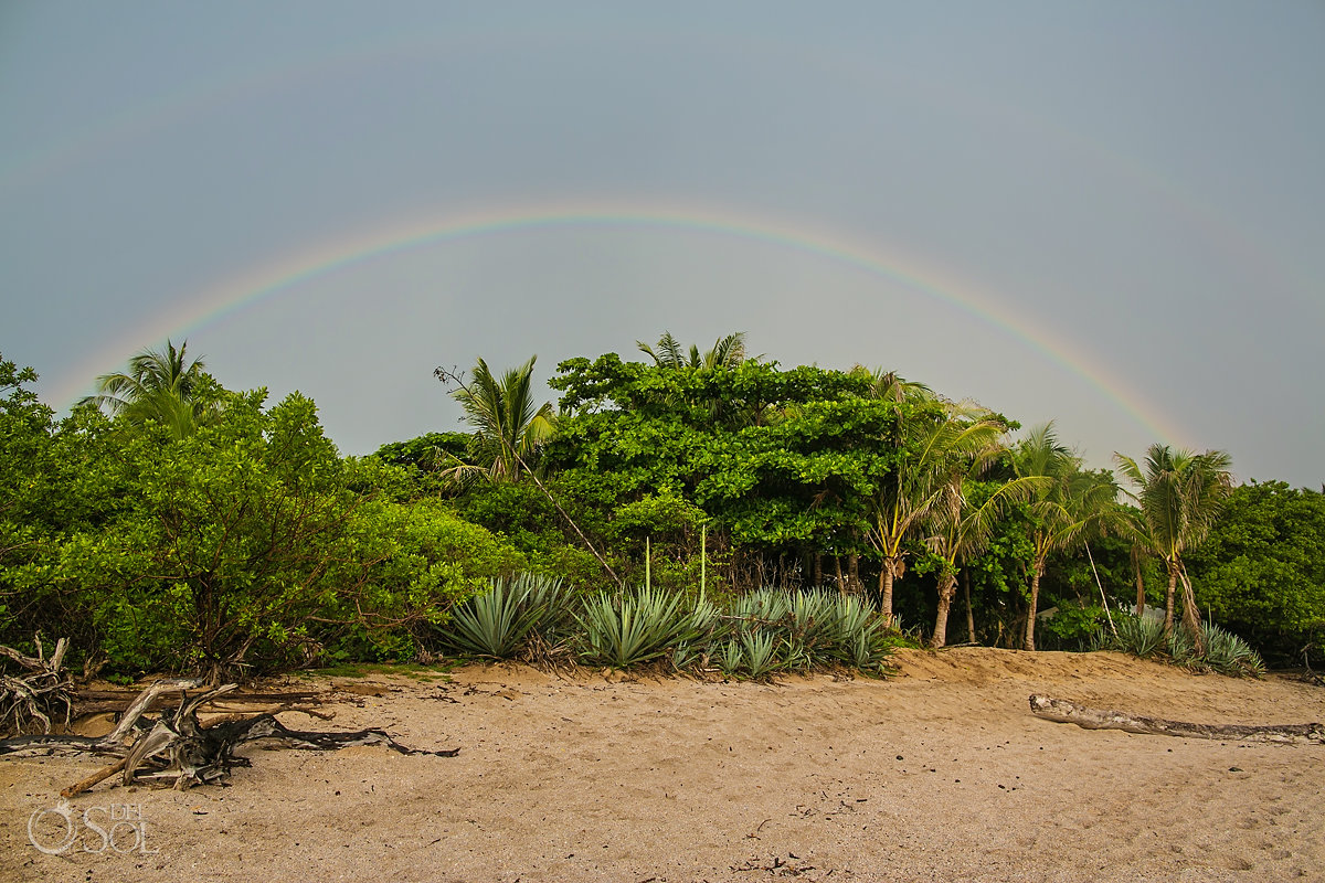 Epic double rainbow Tamarindo Guanacaste Costa Rica Sueño del Mar B&B in Playa Langosta