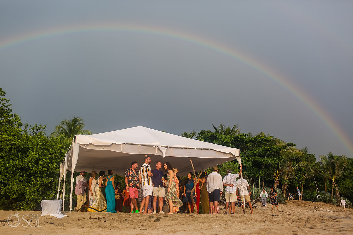 Rainbow Guanacaste Costa Rica Wedding