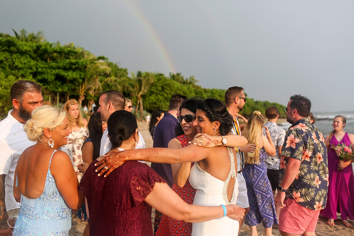 Guanacaste Costa Rica sky Rainbow wedding celebration