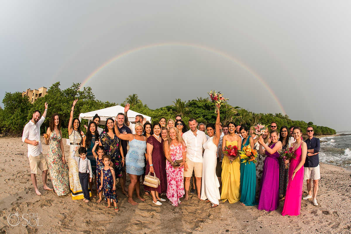 Double sky rainbow Playa Langosta Wedding Celebration