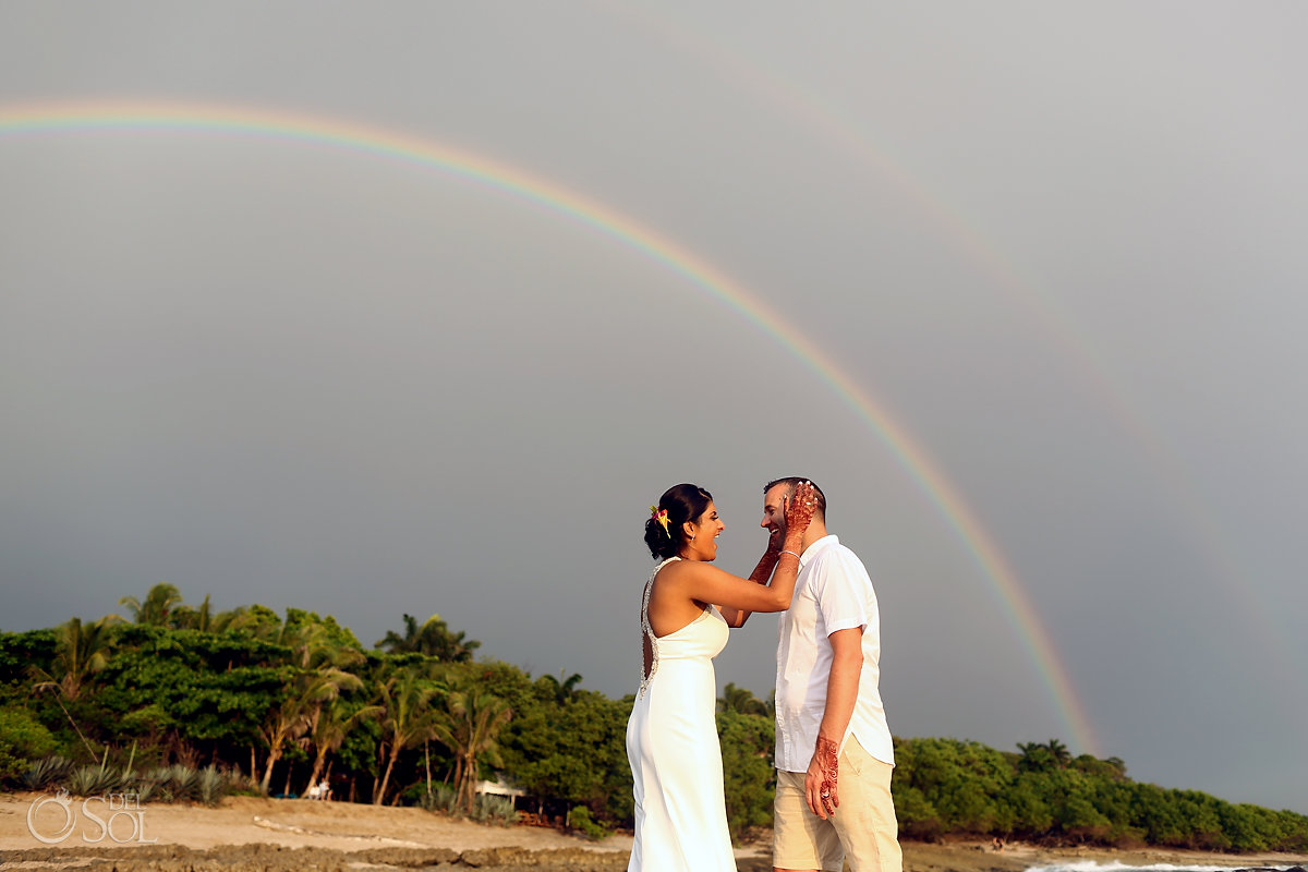 Groom and Bride sky Rainbow Guanacaste Costa Rica