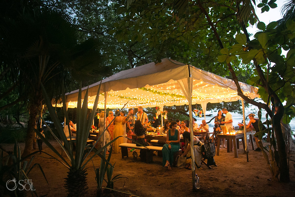 Outdoor Wedding Reception Setup Guanacaste Costa Rica
