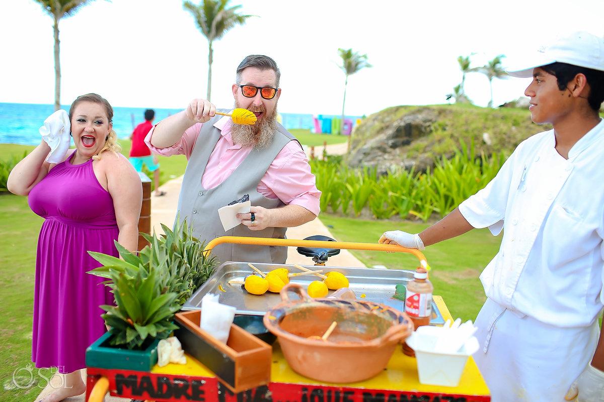 Mexican wedding food idea mango tajin