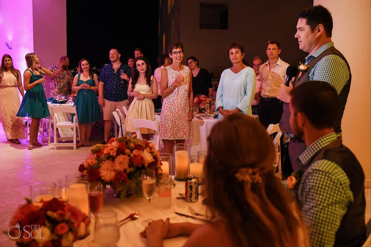 speeches destination wedding reception Hyatt Ziva Sky terrace