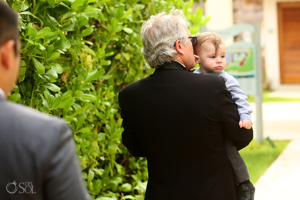Grandpa Baby Grandson Cute Documentary Wedding Moment