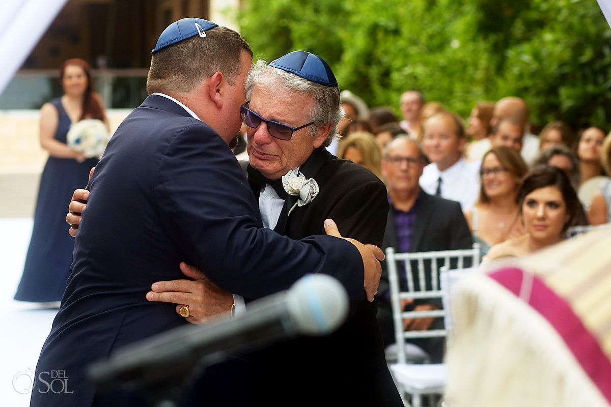 Father Groom Entrance Emotional Beautiful Documentary Moment Paradisus Jewish Wedding