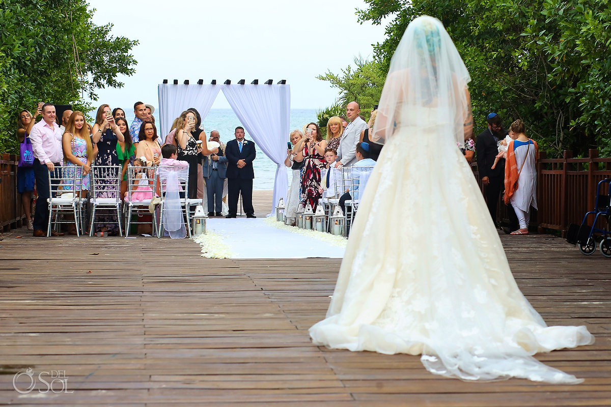 Bride Entrance Walk Jewish Wedding Ceremony Chuppah Large Vail
