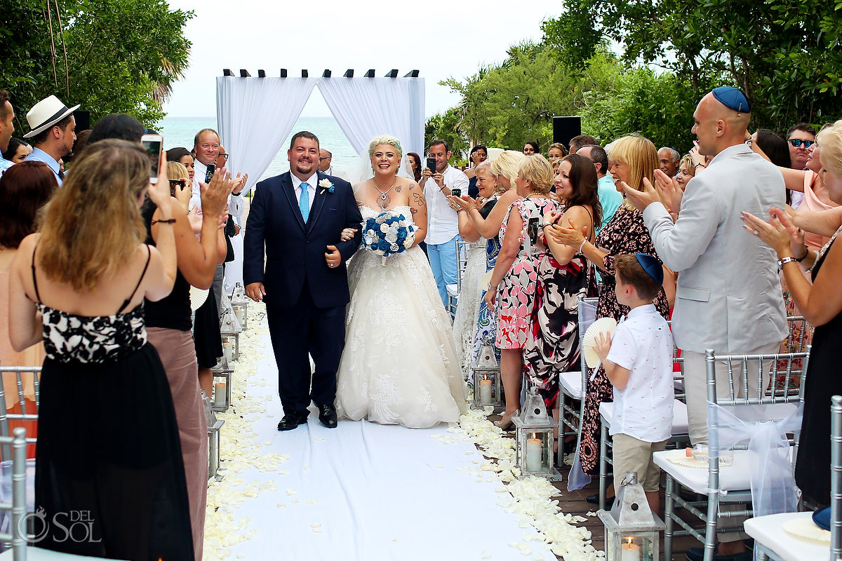 Chuppah Jewish Wedding Ceremony Just Married Couple Paradisus Playa del Carmen Mexico