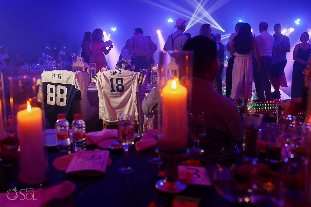 Anniversary Date Shirts Paradisus Playa del Carmen Ballroom Amazing Lights DJ Decoration