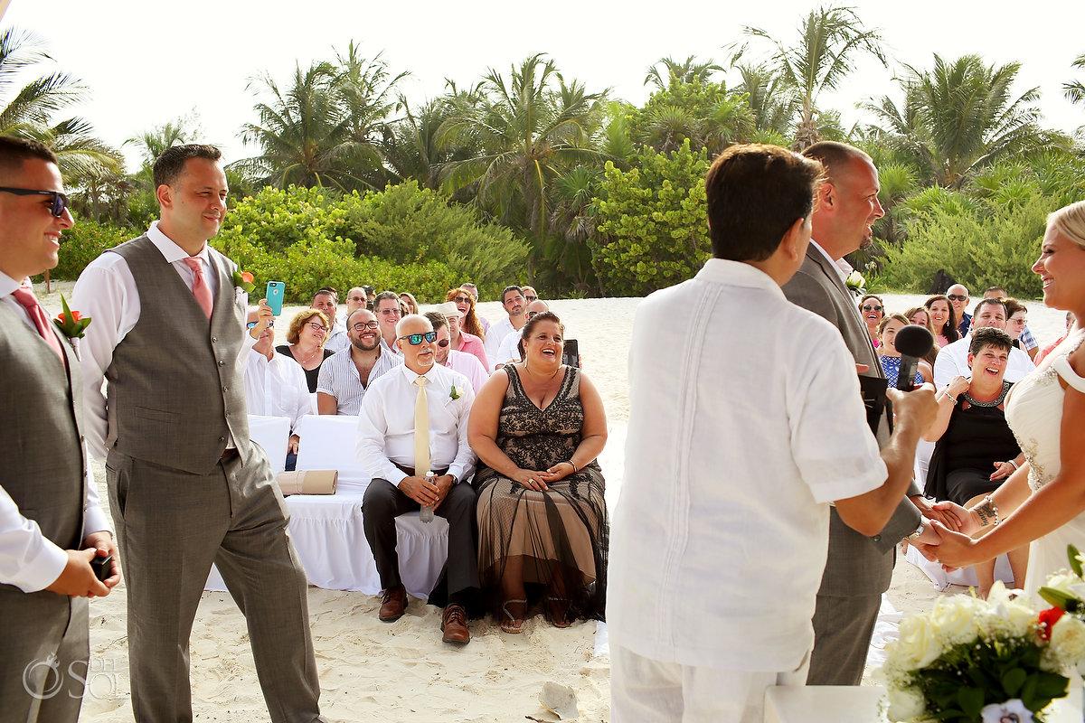 Documentary Happy Moment Getting Married Secrets Maroma Beach Wedding Playa Del Carmen Mexico