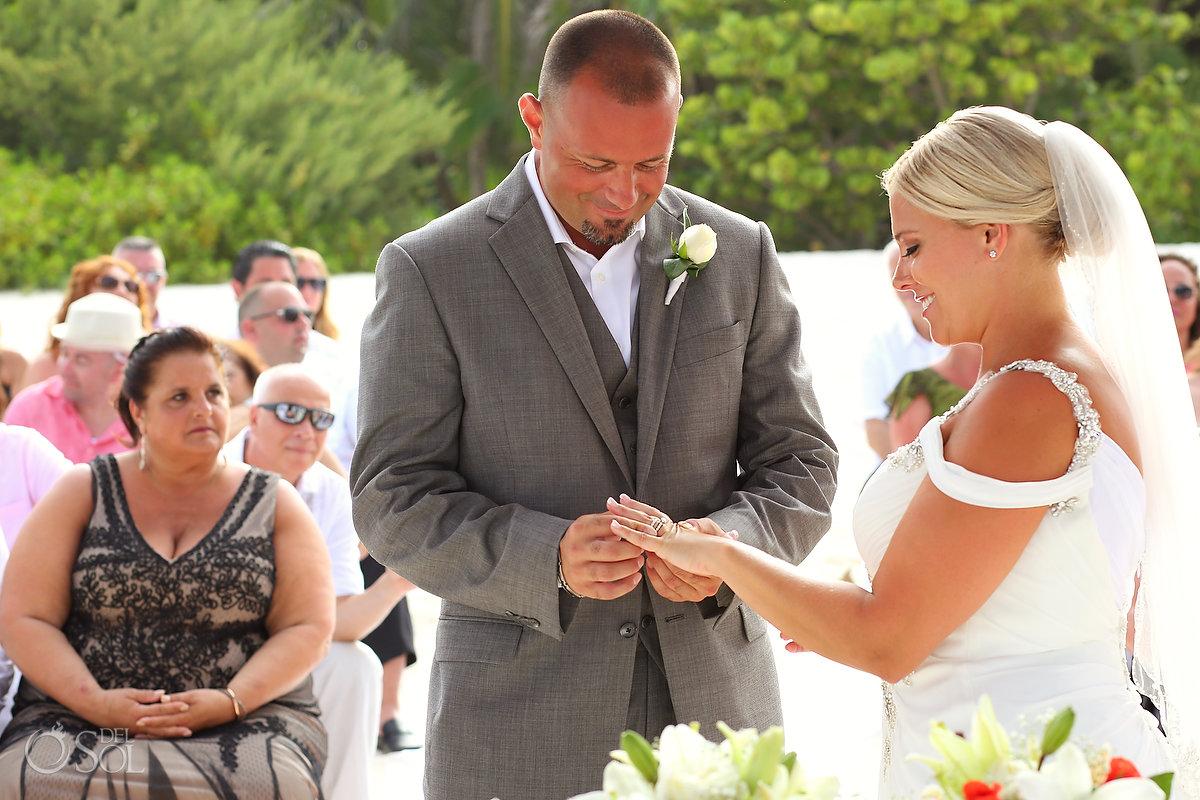 Getting Married Exchange Rings Photography Secrets Maroma Beach Wedding Playa del Carmen Mexico