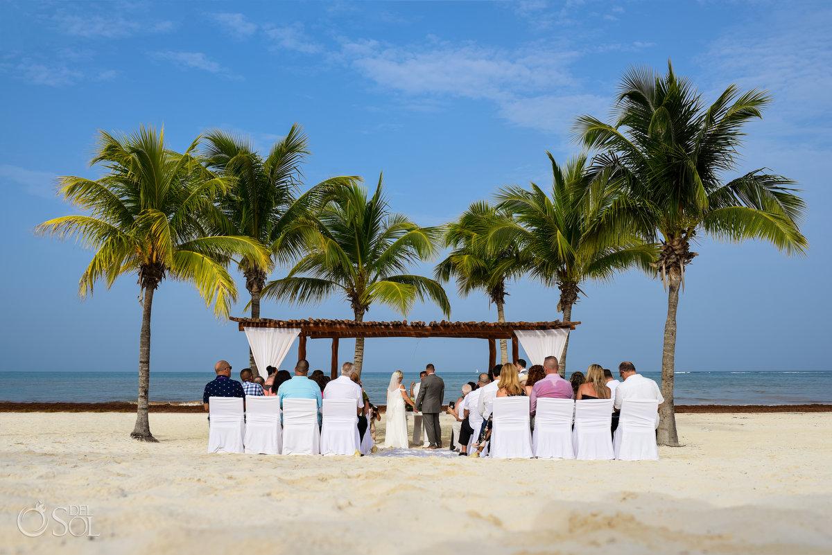 Secrets Maroma Beach Wedding Playa del Carmen Mexico Palm Trees