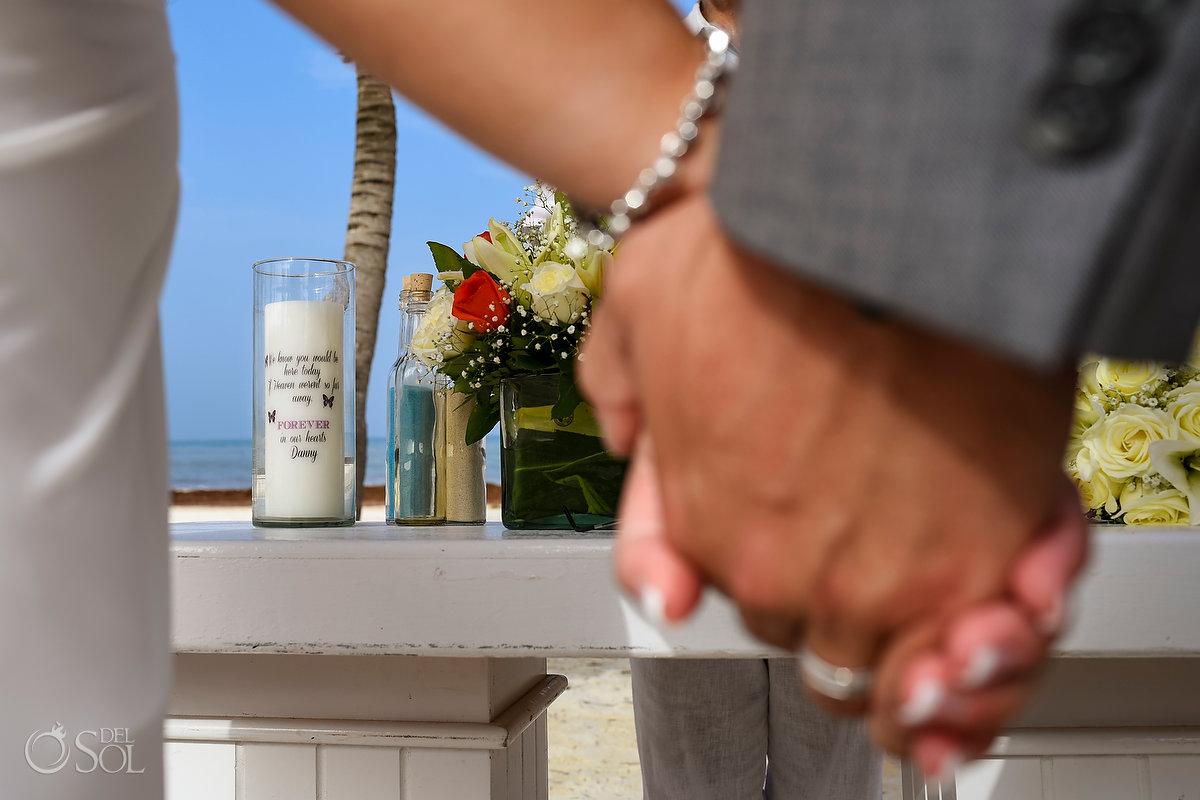 Groom Bride Holding Hands Special Memorial Love Details