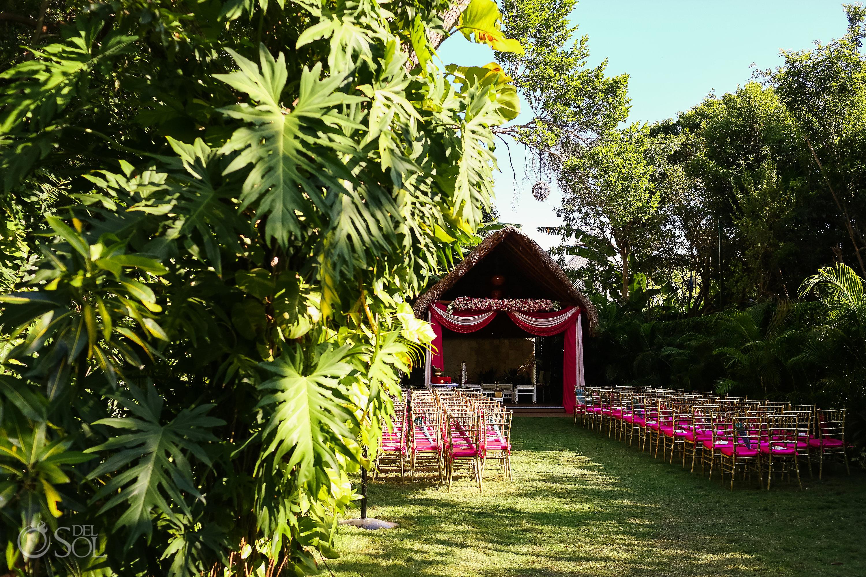 Wedding ceremony setup Secret garden Dreams Tulum