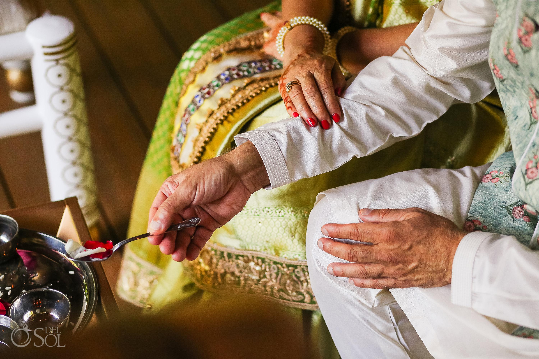 Indian wedding rose petals ceremony