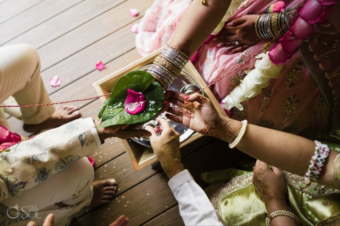 Indian wedding sacred fire ceremony