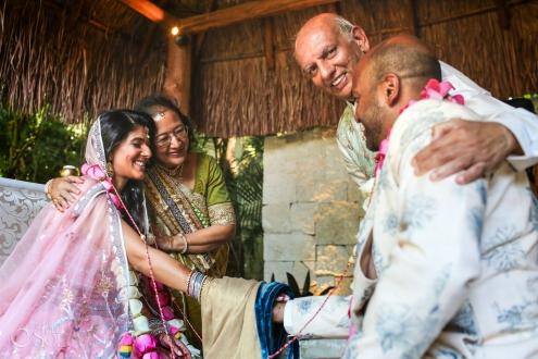 Indian handfasting wedding ceremony Dreams Tulum