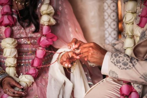 Indian wedding ring exchange ceremony Dreams Tulum