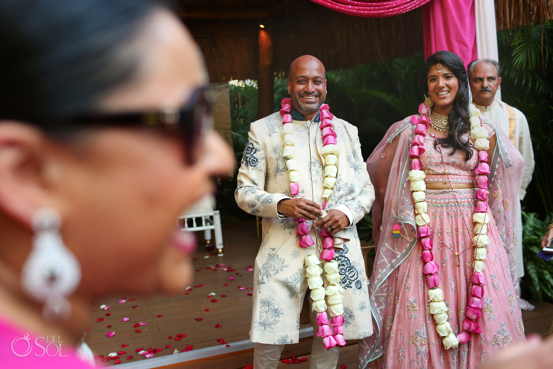 Dreams Tulum Indian wedding newly weds