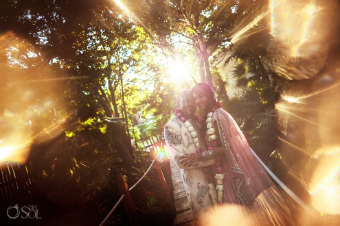 Indian wedding couple portraits Dreams Tulum