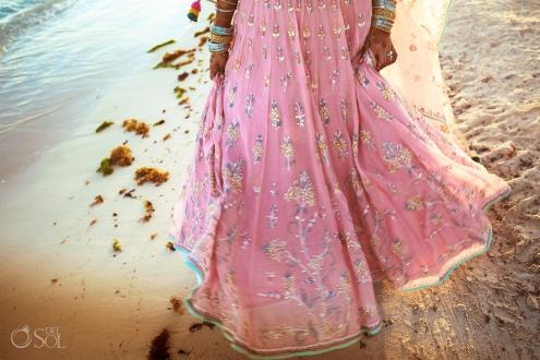 Indian pink wedding dress
