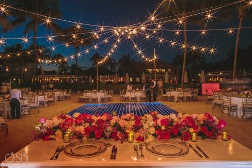 Dreams Tulum beach wedding reception decor
