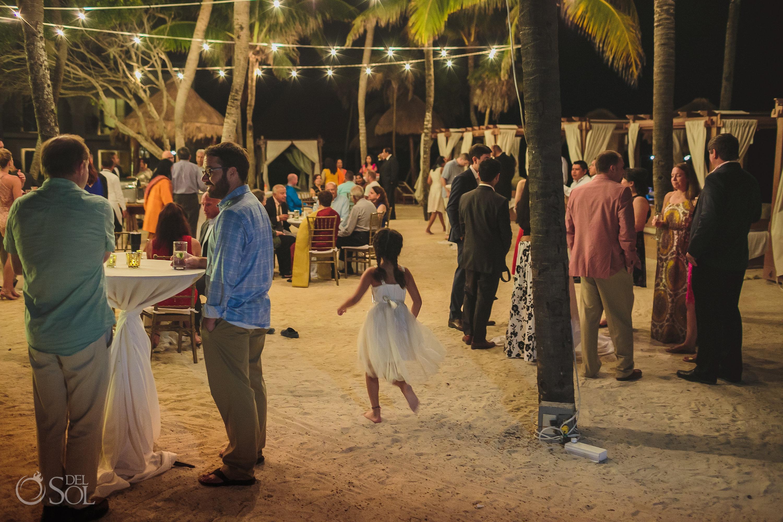 Dreams Tulum Indian wedding reception guests