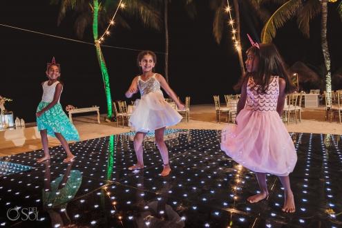 Kids dancing Indian wedding reception