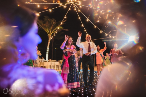 Indian wedding reception bollywood perfomance Dreams Tulum