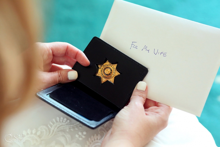 Love wedding letter groom gift detail sheriff badge