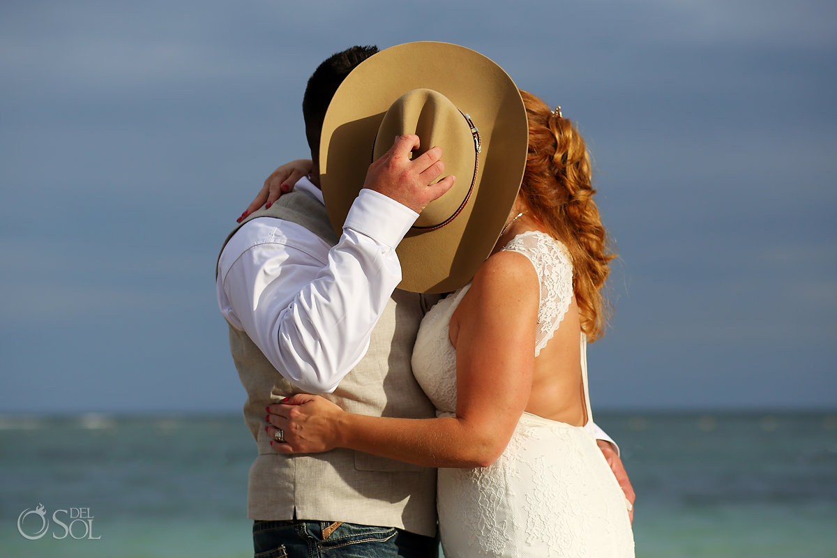 Cowboy wedding ideas Secrets Akumal Elopement Riviera Maya Mexico