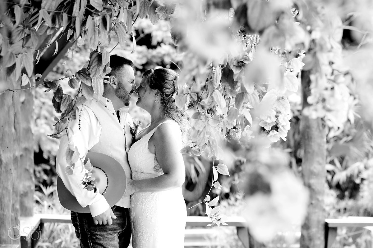 wedding portrait Secrets Akumal Elopement Riviera Maya Mexico