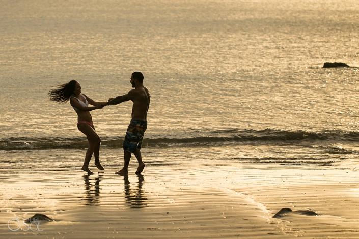 Lovers at sunset Dreams Las Mareas Beach Portrait photo
