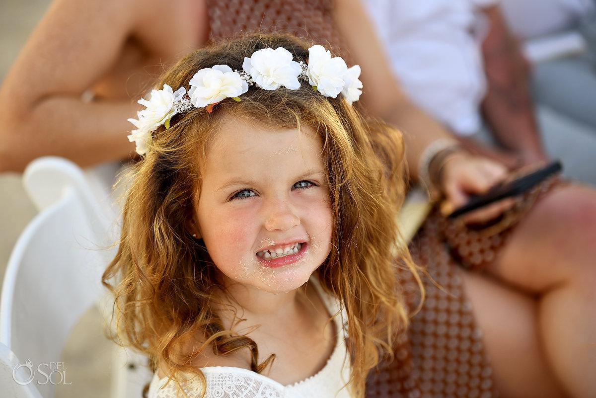 Cutest Flower Girl Flower Crown Loose Hair Funny Portrait