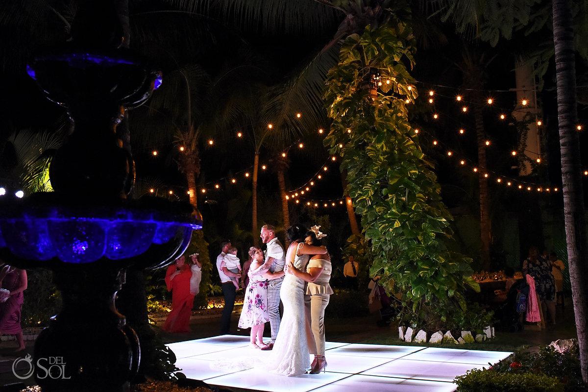 Bride Groom Mothers Dance Wedding Reception Wayak Garden Dreams Sands Cancun Wedding Mexico