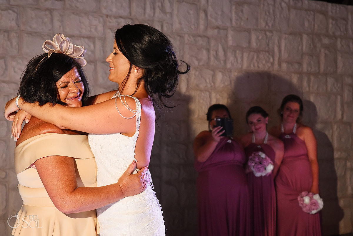Emotional Bride Mother Dance Wayak Garden Dreams Sands Cancun Mexico