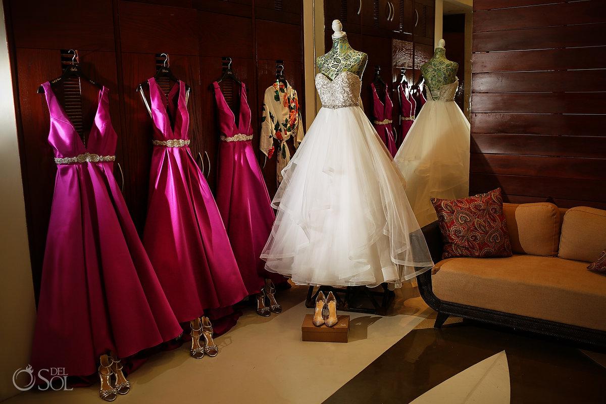 Bridal gowns Grand Velas Wedding