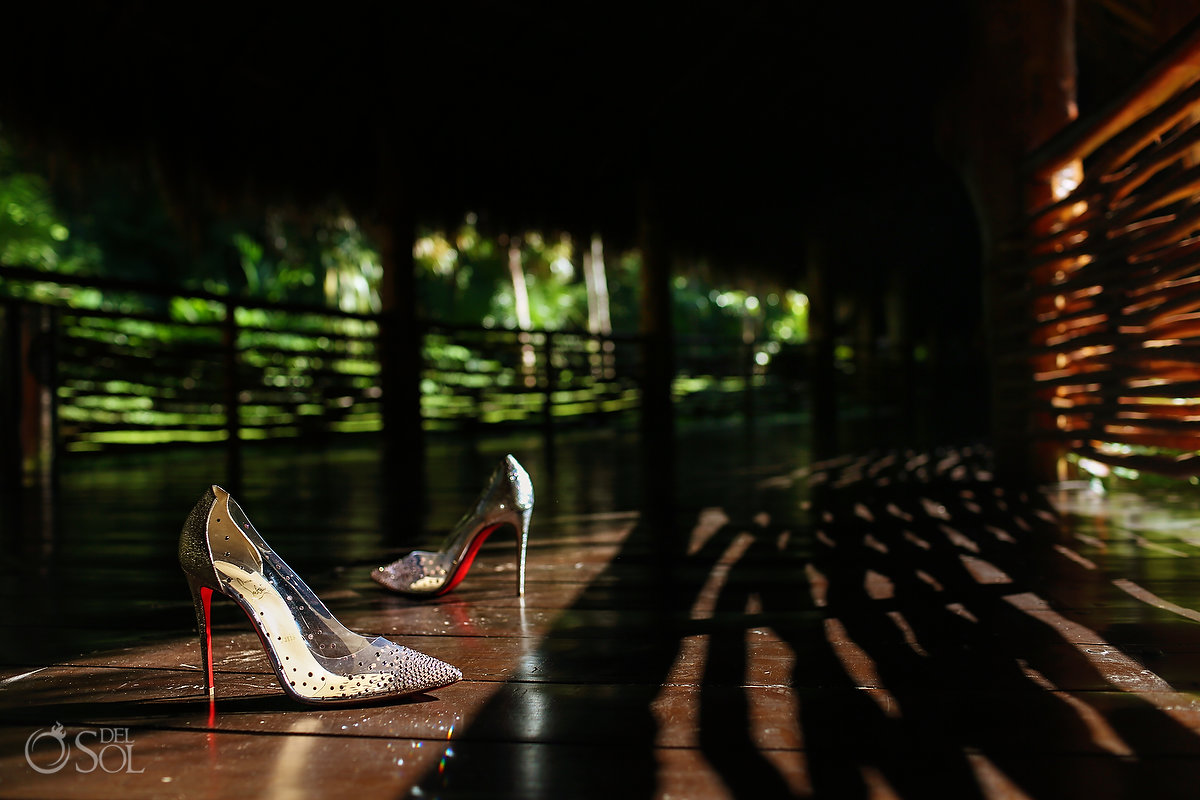high heel wedding shoes Grand Velas Riviera Maya wedding