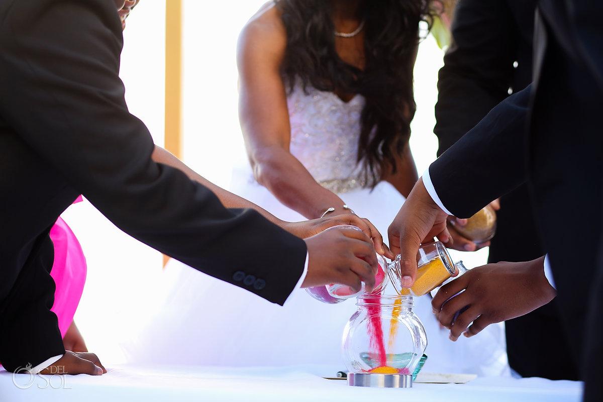 Grand Velas Wedding Sand ceremony