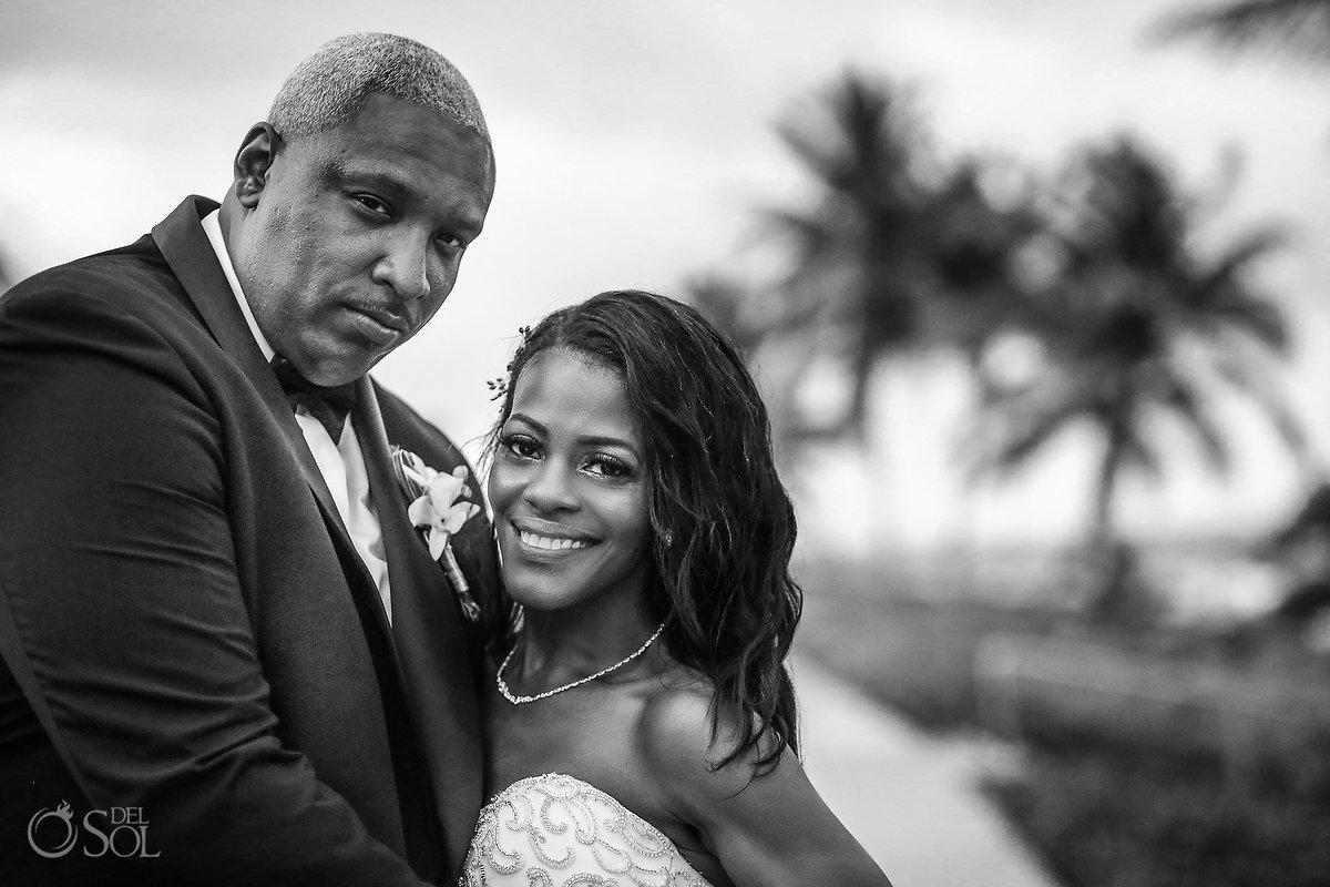 bride and groom Grand Velas Wedding
