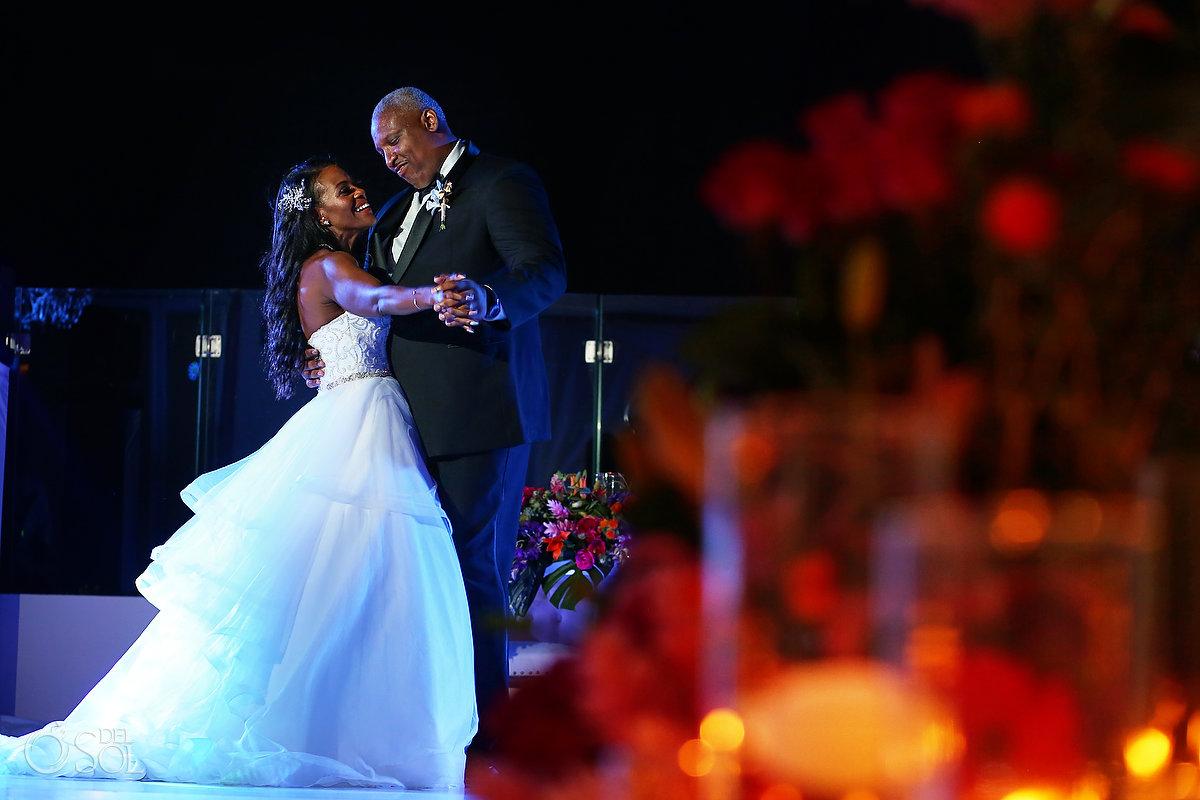 Grand Velas Wedding reception first dance